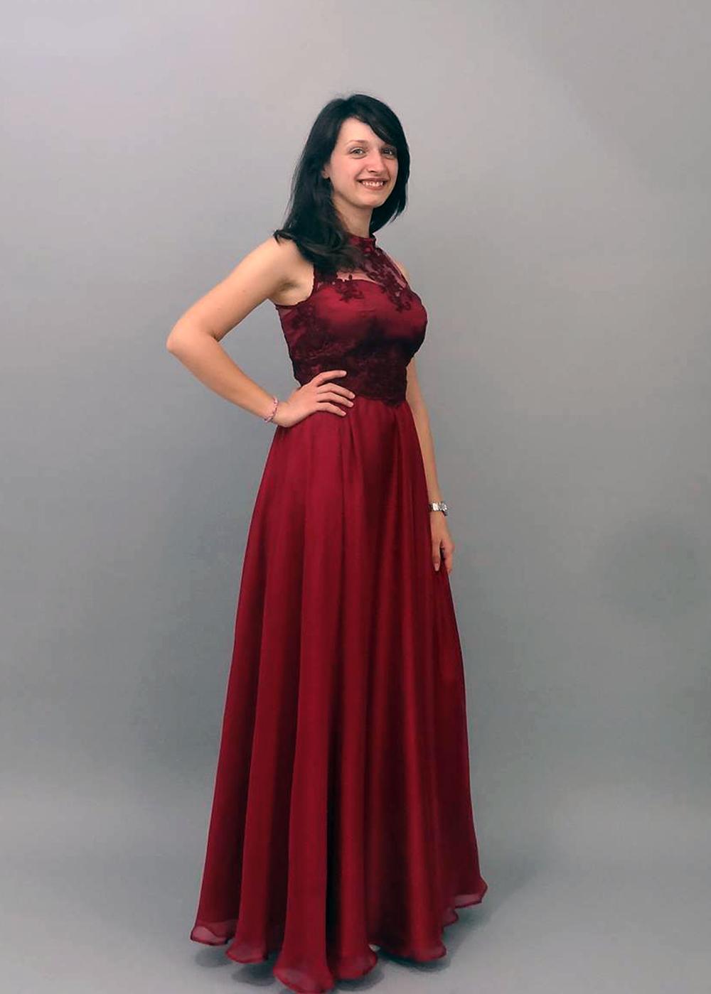 Rochie de ocazie rosu-burgund